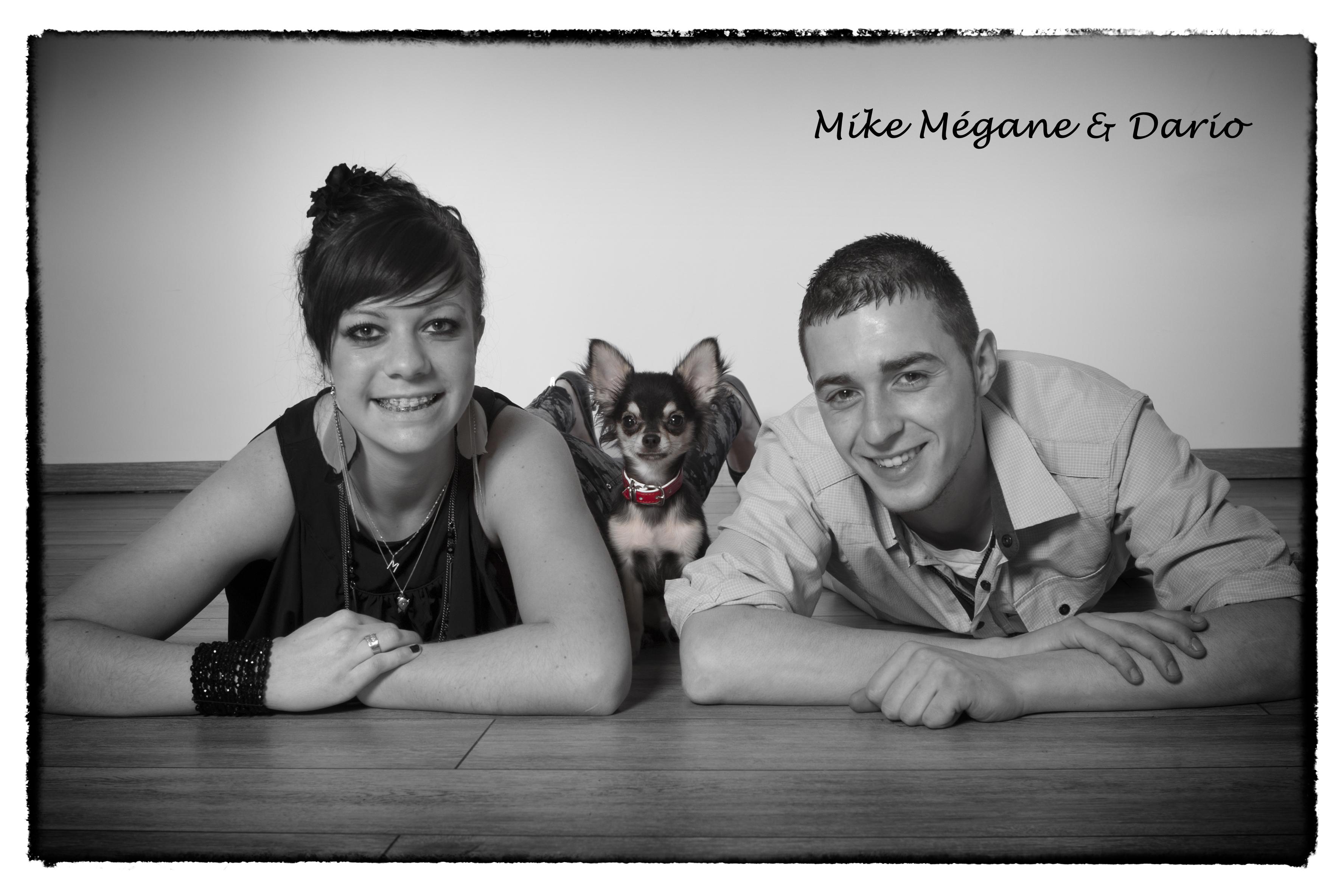 jeune couple sympathique avec le pitbull!!! Dario